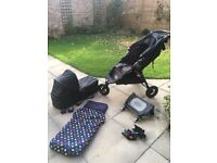 Baby Jogger City Mini GT pushchair with accessories
