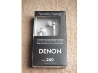( New ) Denon AHC260 In-Ear Headphones - Black