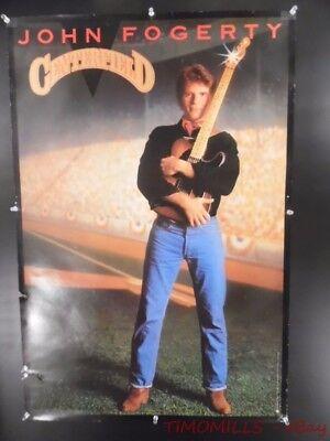 1984 JOHN FOGERTY CENTERFIELD Warner Record Store Promo Poster Vintage Original