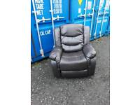 Free delivery+brown leather recliner armchair