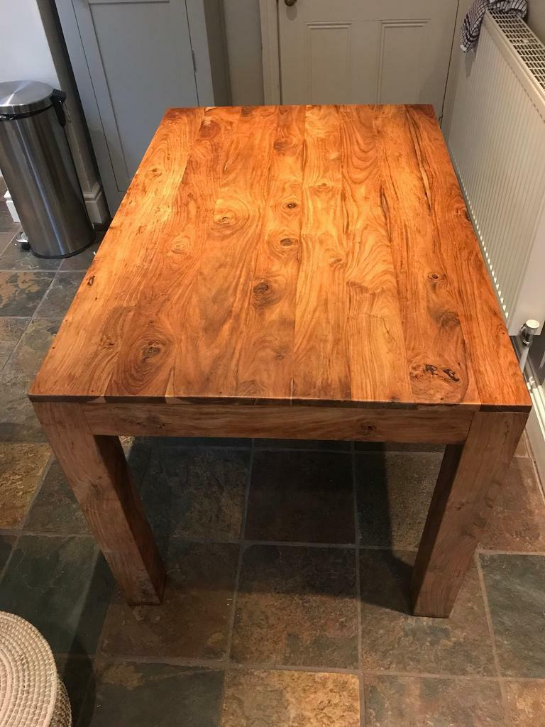 Dining Table Indian Sheesham Wood 120cm X 81cm In