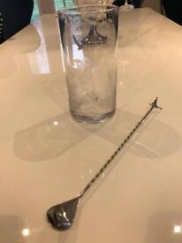 Grey goose crystal cut mixing glass
