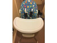 Petite star Baby toddler highchair with tray foldable