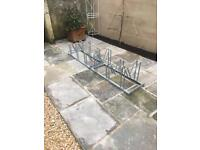 2 metal bicycle parking rack for up to 6 bikes