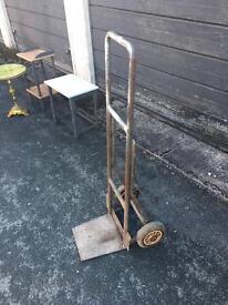 Metal potato sack trolley