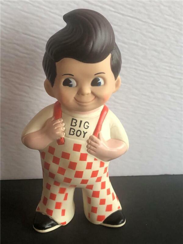 Vintage Big Boy Restaurant Advertising Rubber Doll Bank 1972