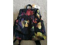 Brand new floral rucksack