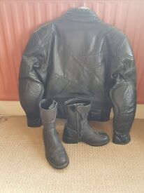 Womens Leather Jacket and Boots