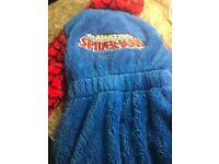 Spider man dressing gown size 4-5 bnwt and slippers size 10 used