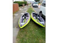 2 decathlon kayaks