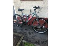 "Full suspension mountain bike 26"" wheels 18 speed"