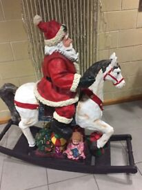 Santa rocking horse