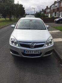 Silver Vauxhall Vectra