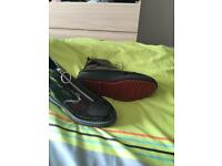 Zara black patent boots