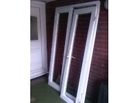 2 sets of french doors no glass / bead hence price both solid with locking mechanisms