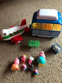 Peppa Pig bundle plane campervan