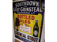 Wanted lewes/east grinstead enamel signs