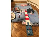 Laura Ashley boys twin bedding set, duvets, throws mats and lots more