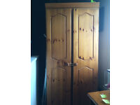 pine effect two door wardrobe and chest drawers £20