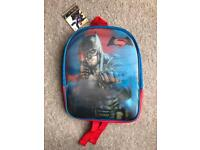 BRAND NEW SUPERMAN/BATMAN 3D LENTICULAR CHILDRENS BACKPACK/RUCKSACK BAG