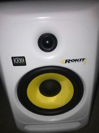 Pair of Rokit 6 KRK Speakers brand new White