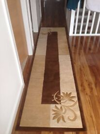 Brown and Beige Carpet Runner