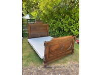 Antique French Walnut King Sized Bed