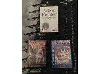 2 Sega Mega Drive Games and 1 Sega Master System Game for Sale