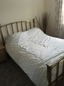 Gold/brass bed frame