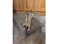 IKEA 4 x Rationell kitchen cupboard wire drawers 60cm x 60cm