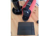 Krups XN250540 Nespresso U Espresso Coffee Machine Matt Red & Capsule Stand