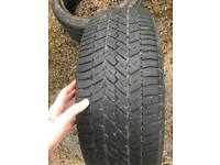 Car tyres x 2 different