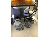 Egg Travel System, Stroller, Carry Cot and extras