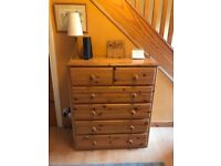 Solid pine 6 drawer chest