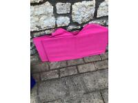 2 pink Ikea fabric boxes