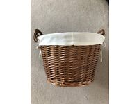 Wicker Basket with handles and liner