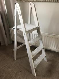 Wedding display vintage wooden step ladders