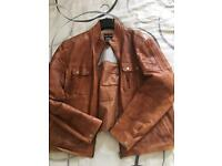 Tanned Leather Jacket 3XL