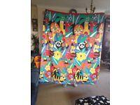 Animal print children's curtains