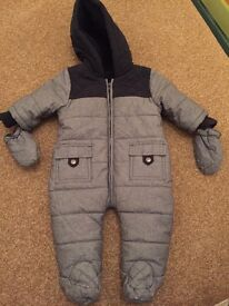Baby Boys 0-3 month pram suit worn once like new!
