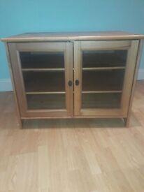TV cabinet in oak / varnished pine