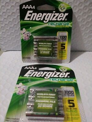 8 Count Energizer AAA Rechargeable Batteries (Energizer Recharge)