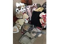 Large Carboot joblot perfumes clothes shabby chic handbags home items etc