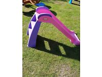 Little tikes pink and purple slide