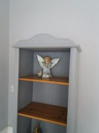 Pine & Grey tall bookcase, display shelf