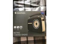 Goodmans Retro radio