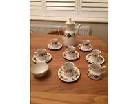 Royal Doulton Larchmont fine bone china coffee set.
