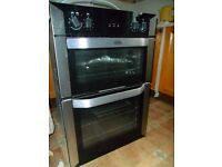 Belling BI90MF integrated eye level electric double oven.