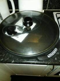 Large electric frying stroke wok pan