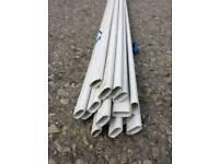 Job lot 15 x Oval conduit plastic oval conduit 15 x 3m lengths